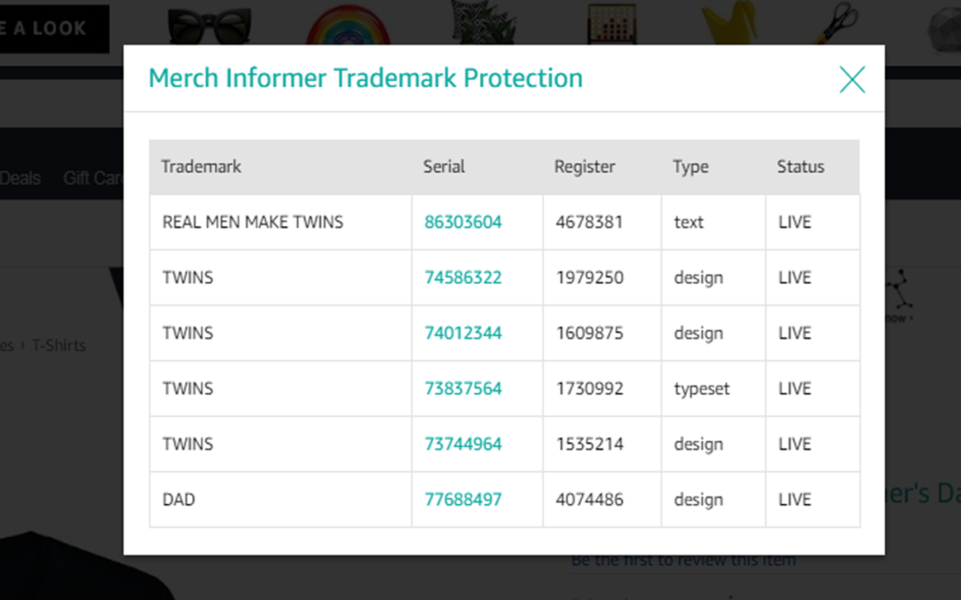 Merch Informer Trademark Protection Plugin Released